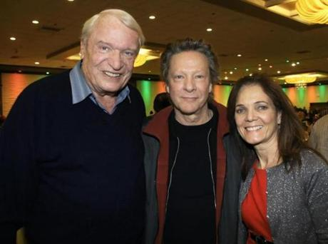 From left: Charlie Coombs of Pocasset, actor Chris Cooper of Kingston, and event host Christine Coombs.